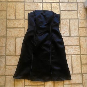 Ann Taylor Strapless Satin Piped Dress